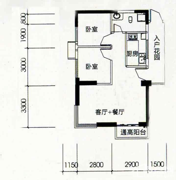 北海南岸5#03号房户型图