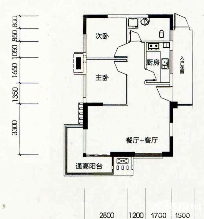 北海南岸4#02号房户型图