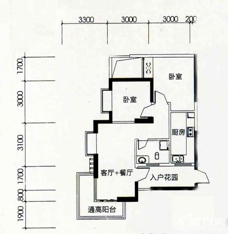 北海南岸5#02号房户型图