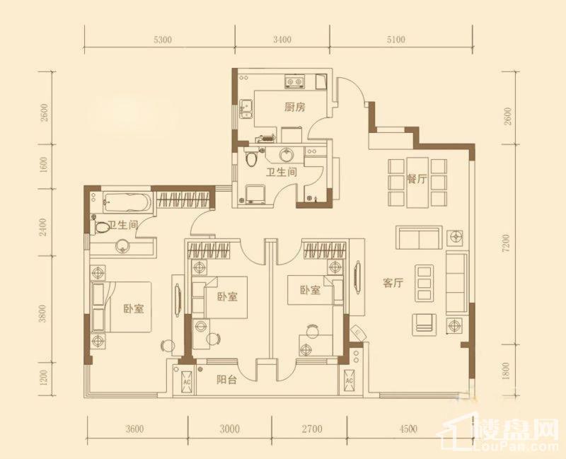 昊海·梧桐C1'户型图