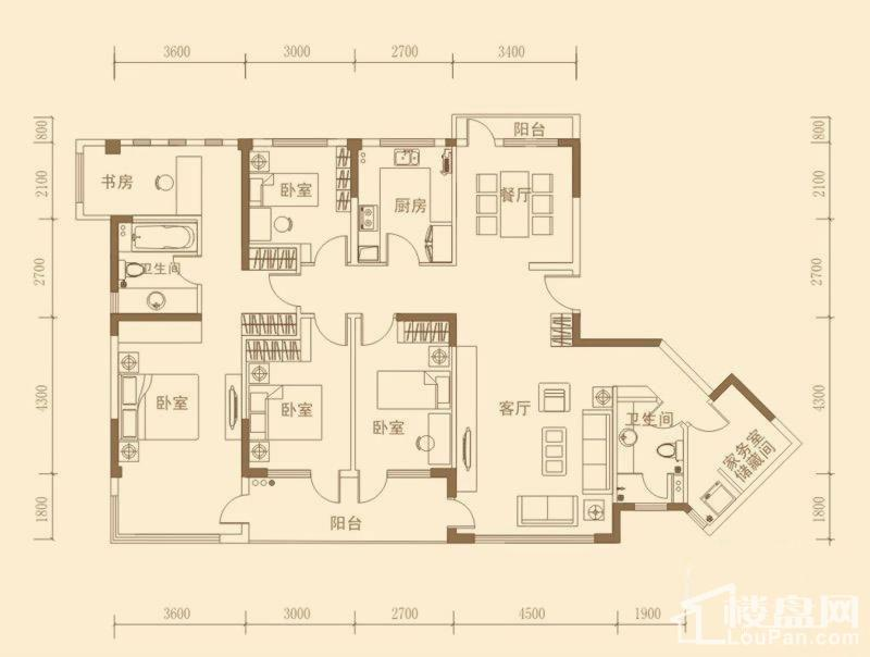 昊海·梧桐D1'户型图