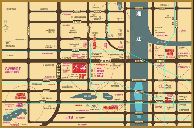 香江国际位置图