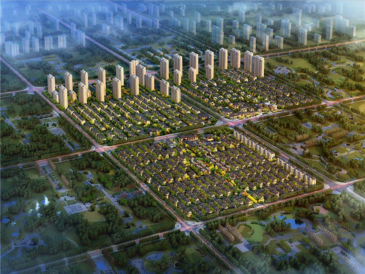 霸州温泉孔雀城效果图