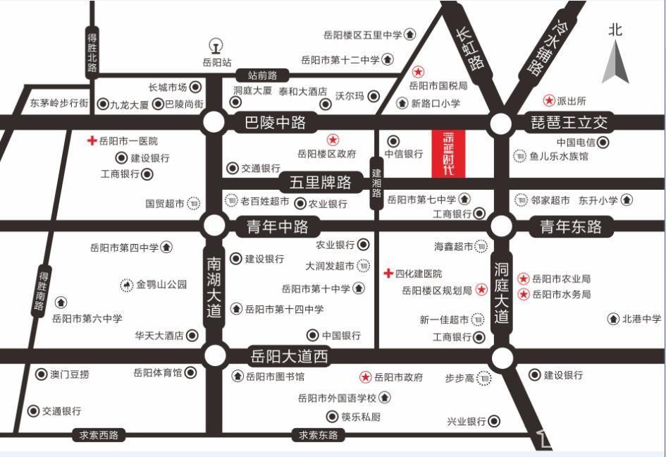 华邦时代广场(深蓝时代)位置图