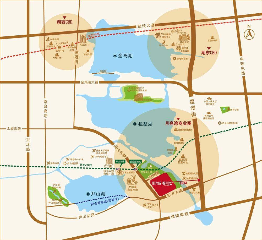 阳光城愉景湾位置图