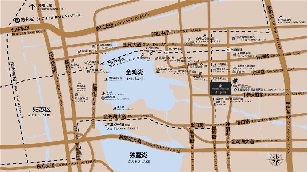 苏州唐宁府位置图