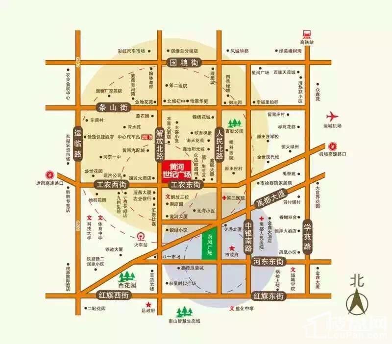 黄河世纪广场位置图