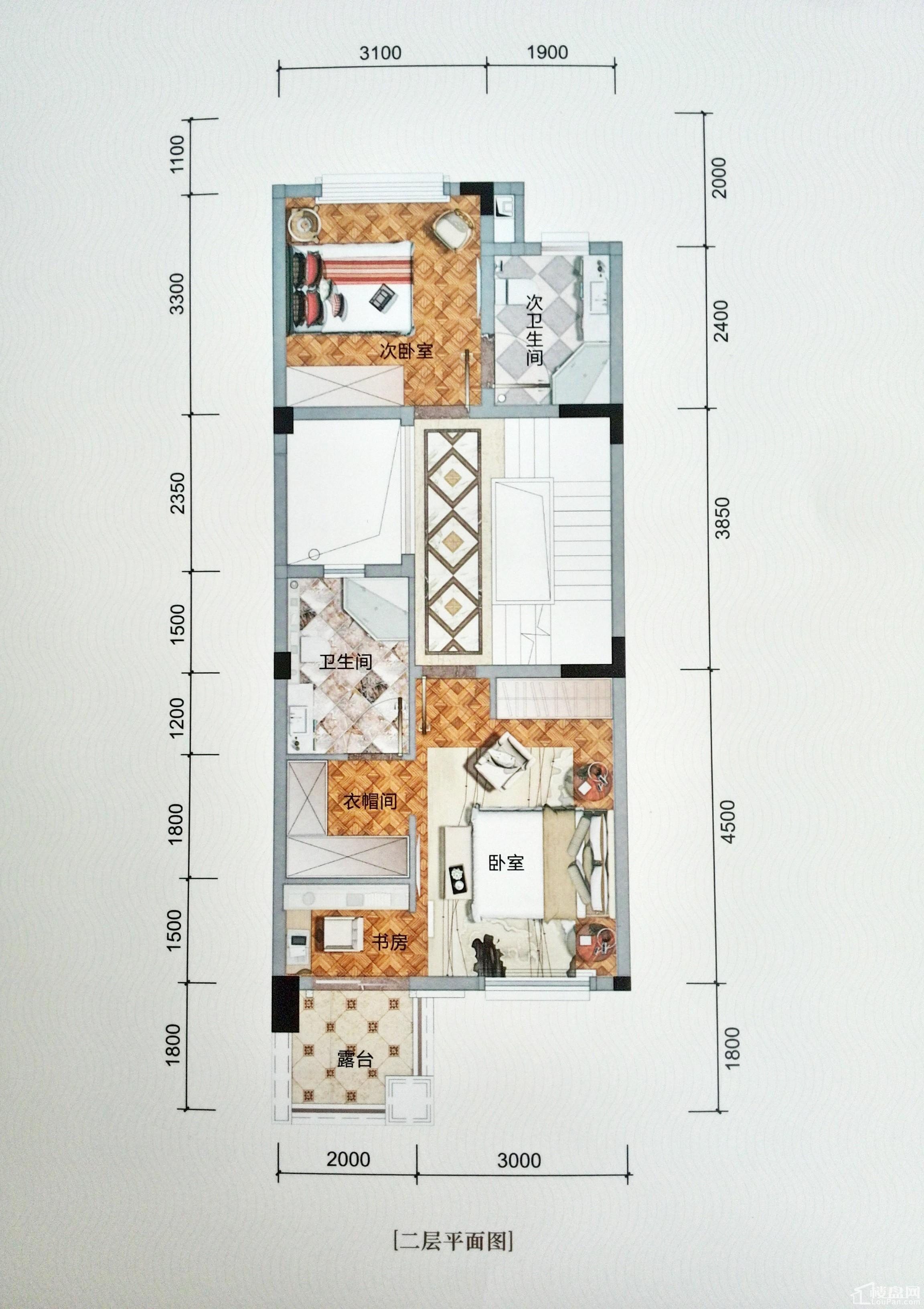 英郦庄园桥郡A2层户型图