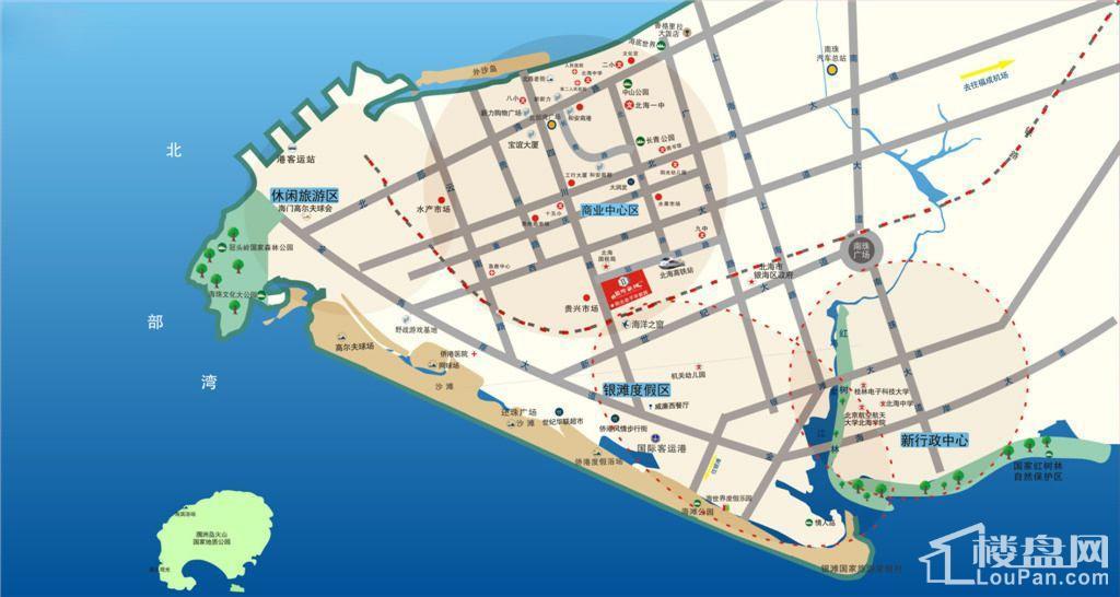 北海国际新城位置图