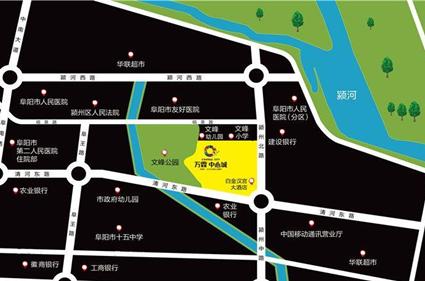 万霖·中心城位置图