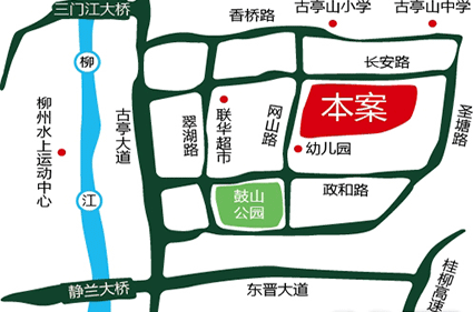 温馨竹园位置图