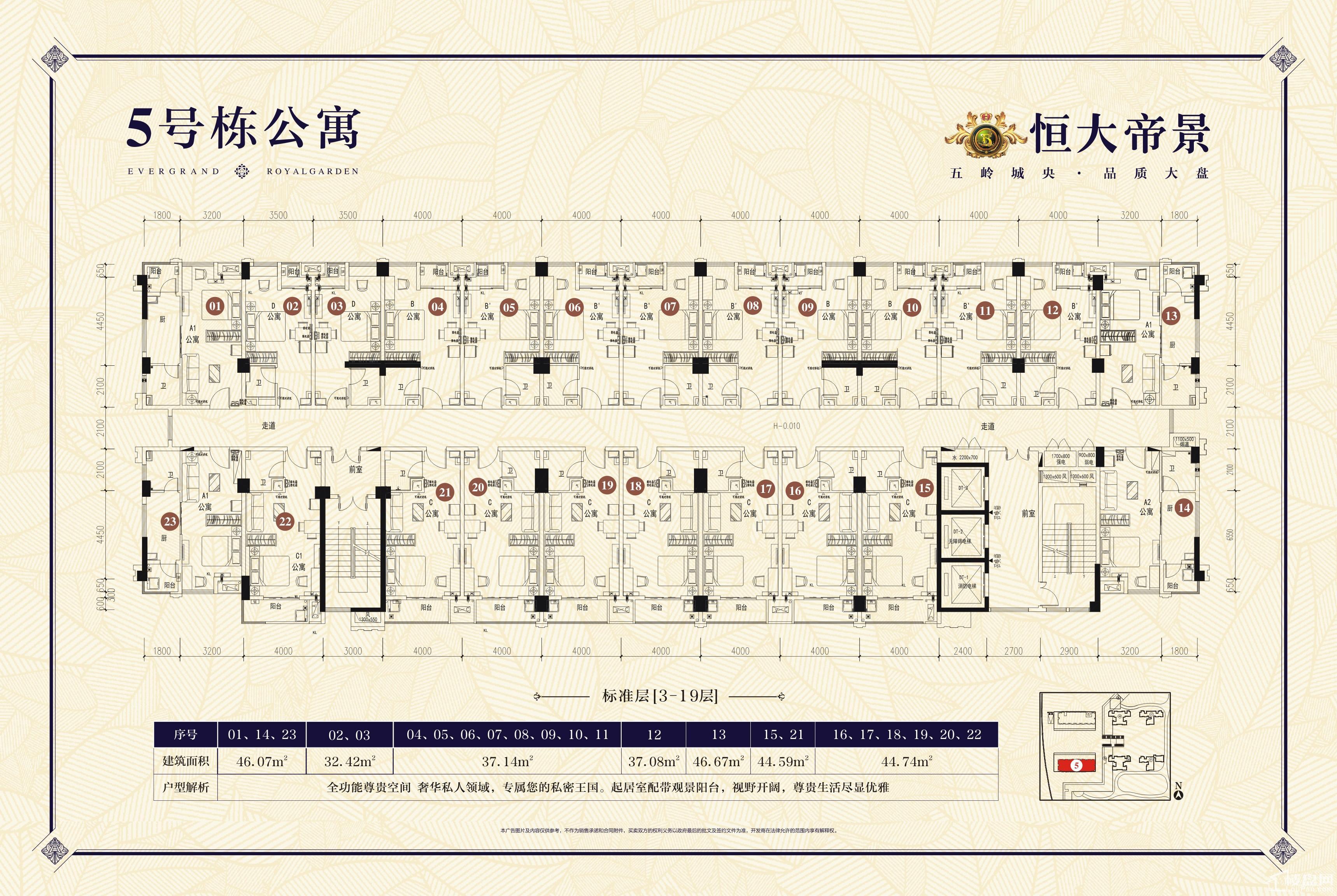 郴州恒大帝景5#栋公寓