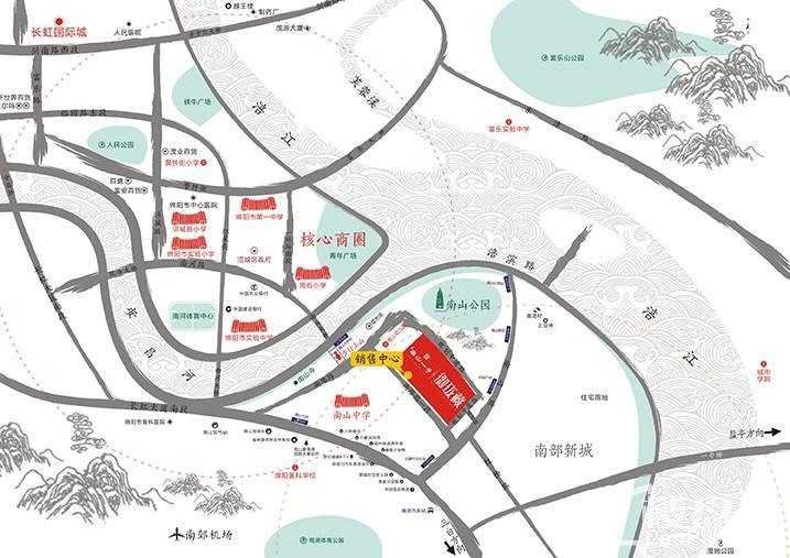 南山一号2期御珑藏-区域图