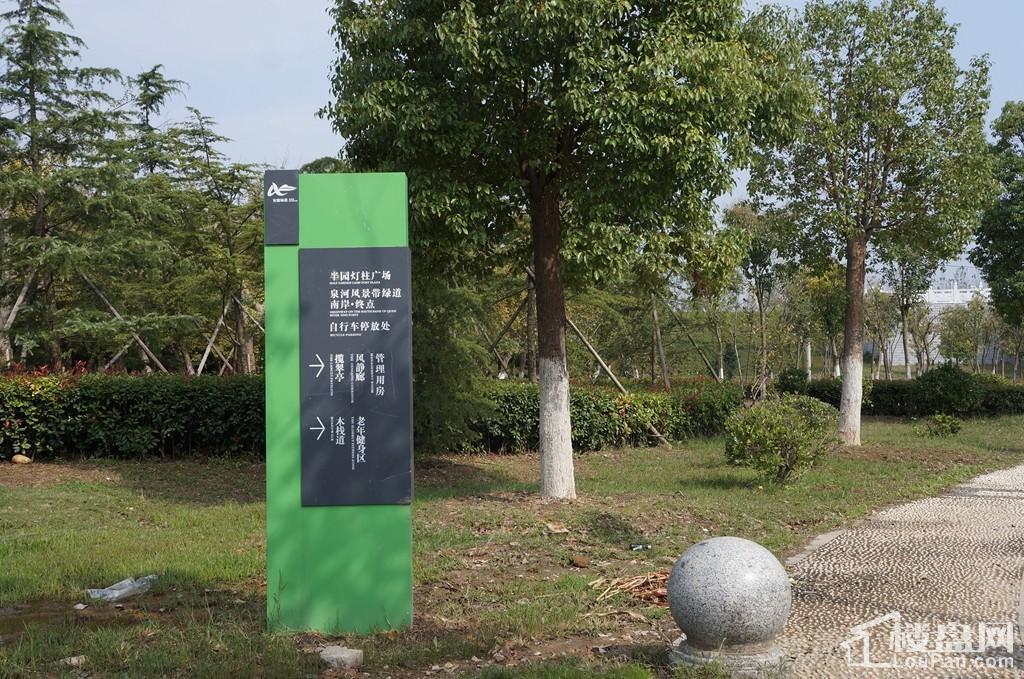 泉河风景带——半圆灯柱广场