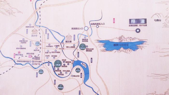 首开仙海龙湾位置图