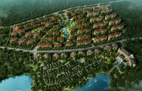 鹭湖国际养生度假区效果图