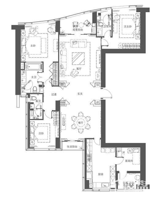 豪宅A2户型