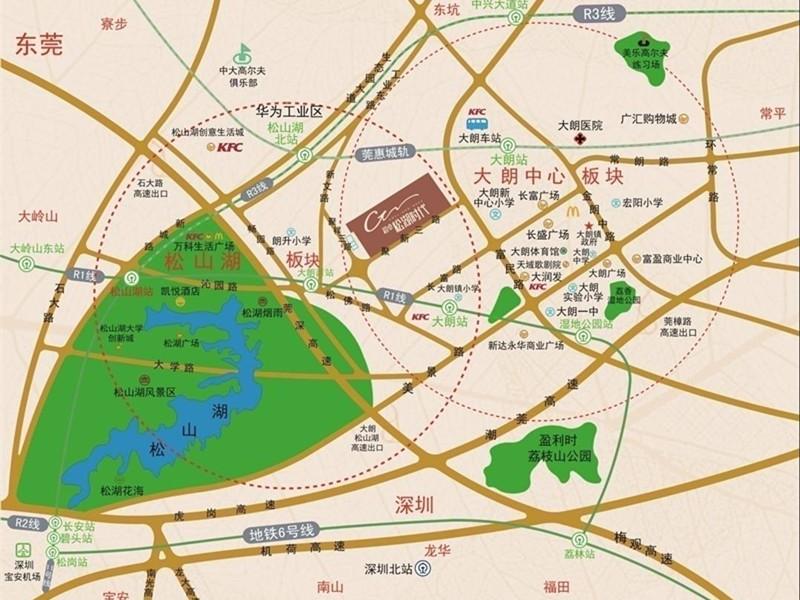 超卓·松湖时代位置图