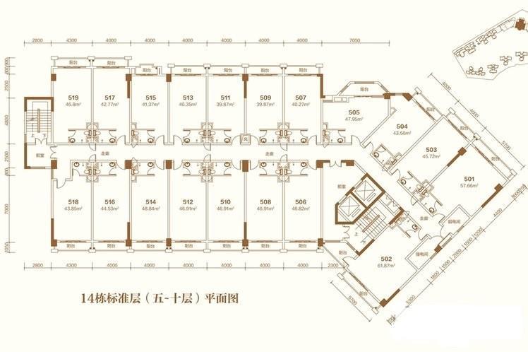 14栋公寓户型图