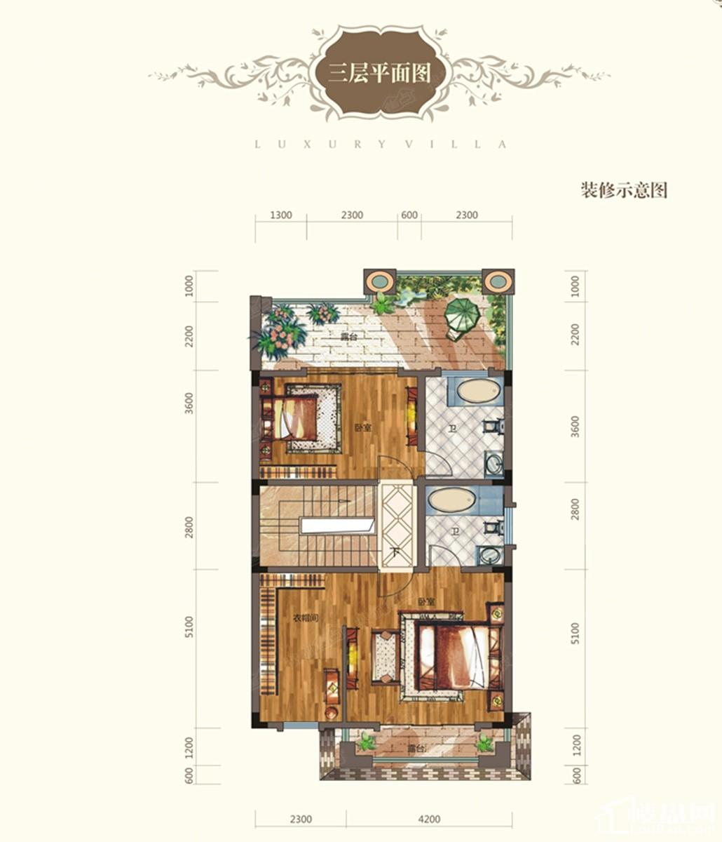 A户型3楼平面图