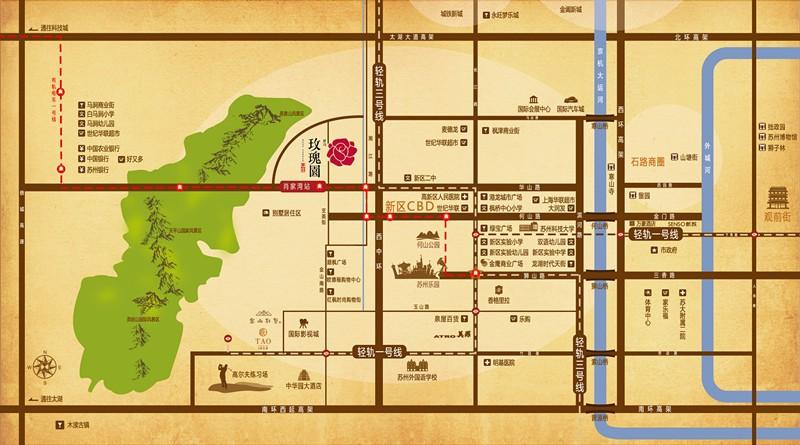 景山玫瑰园位置图