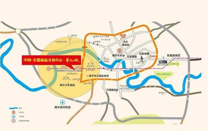 华南城东盟华府位置图
