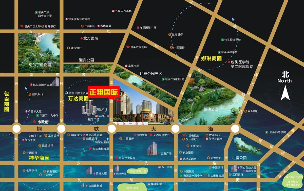 正翔国际·枫景苑位置图