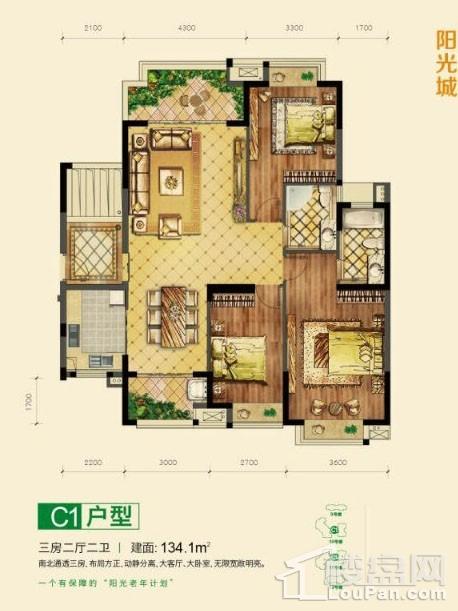 颐养公社阳光城C1户型图