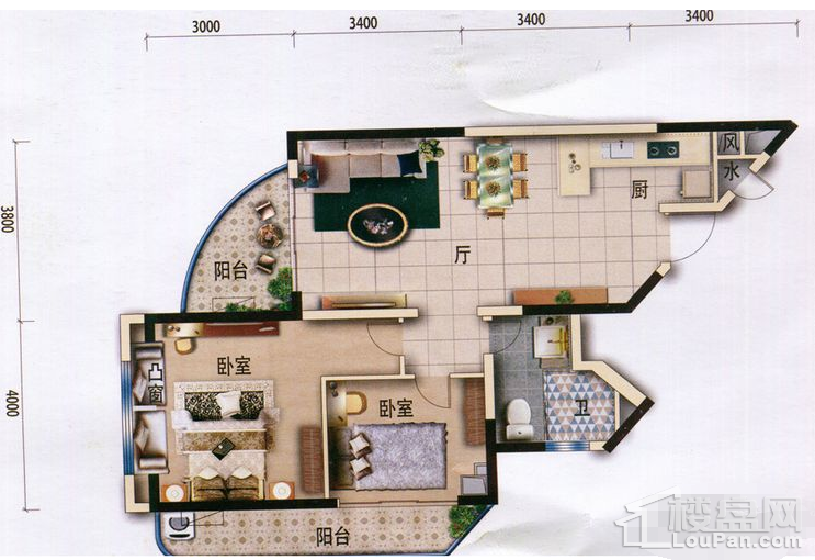 【梵高的海】9-11栋A2户型