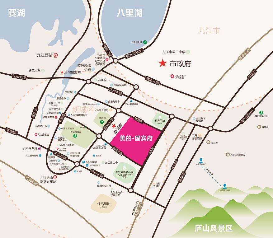 九江美的国宾府位置图