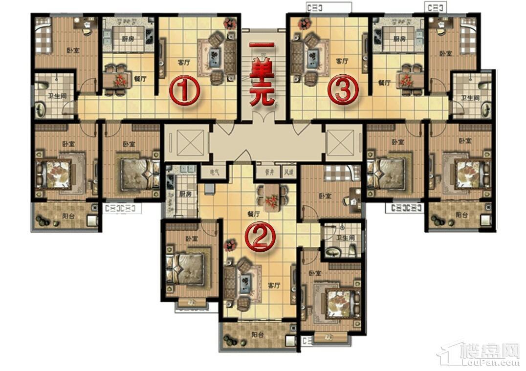 9号楼平面图