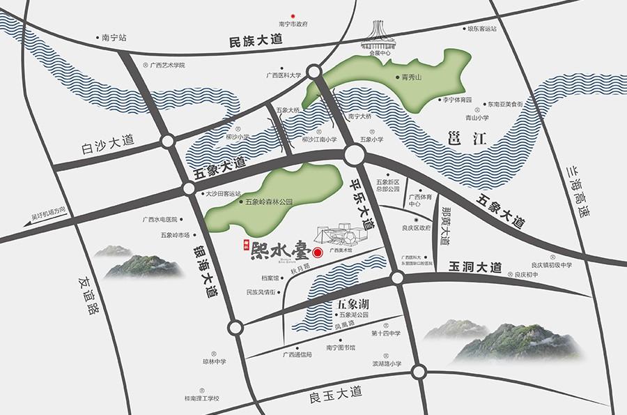 瀚林熙水台位置图