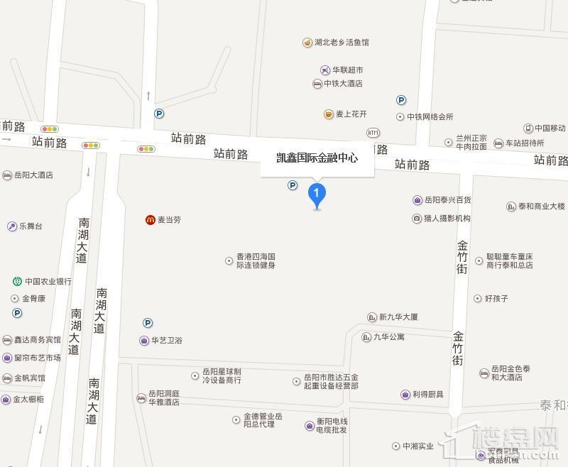 凯鑫国际金融中心位置图