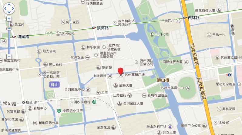 苏州高新广场位置图