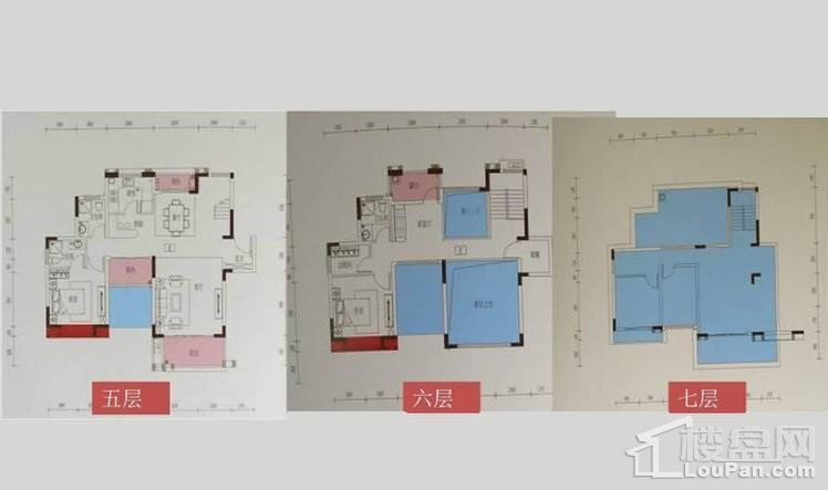 叠加别墅5-7层