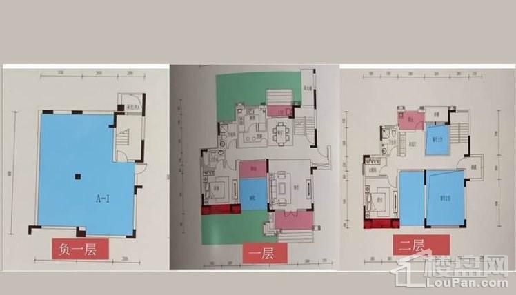 叠加别墅1-2层