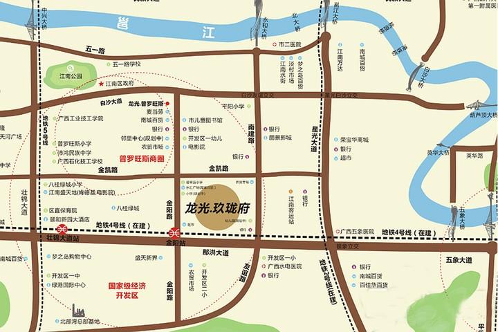 龙光玖珑府位置图