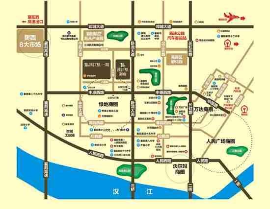 汉江梦1958·御府位置图