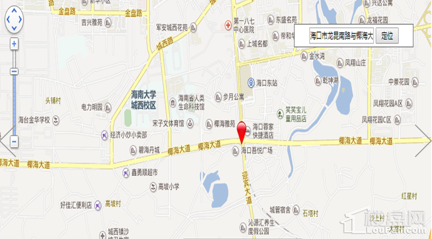 喜盈门(海口)建材家具生活广场位置图