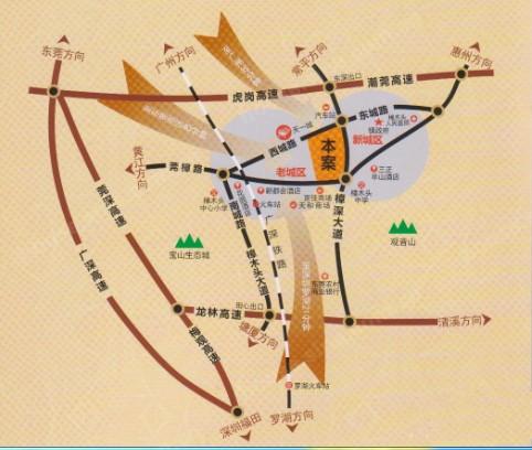 香樟1号位置图