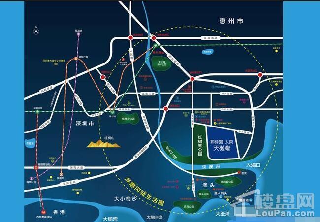 碧桂园太东天樾湾位置图