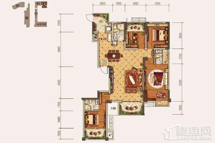 三期4号楼一单元1号房、二单元2号房