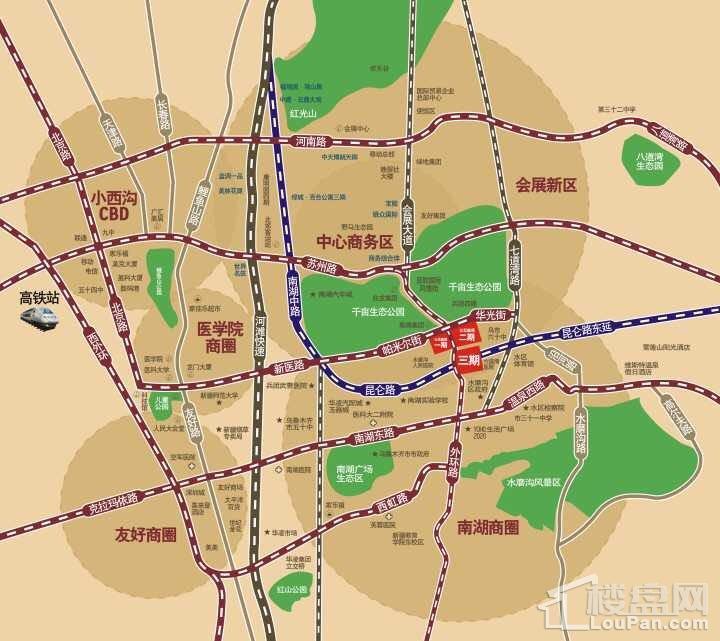 公元南湖三期峰境位置图
