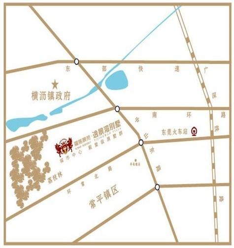 罗马景苑·逸景湾位置图