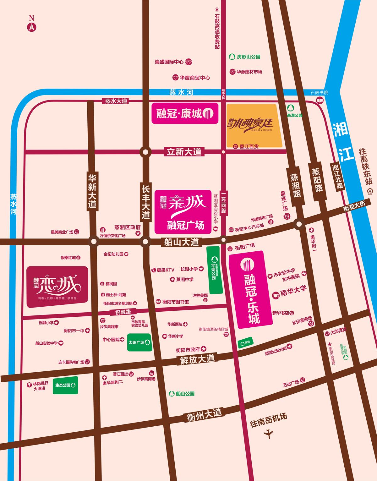 融冠·亲城商业广场位置图