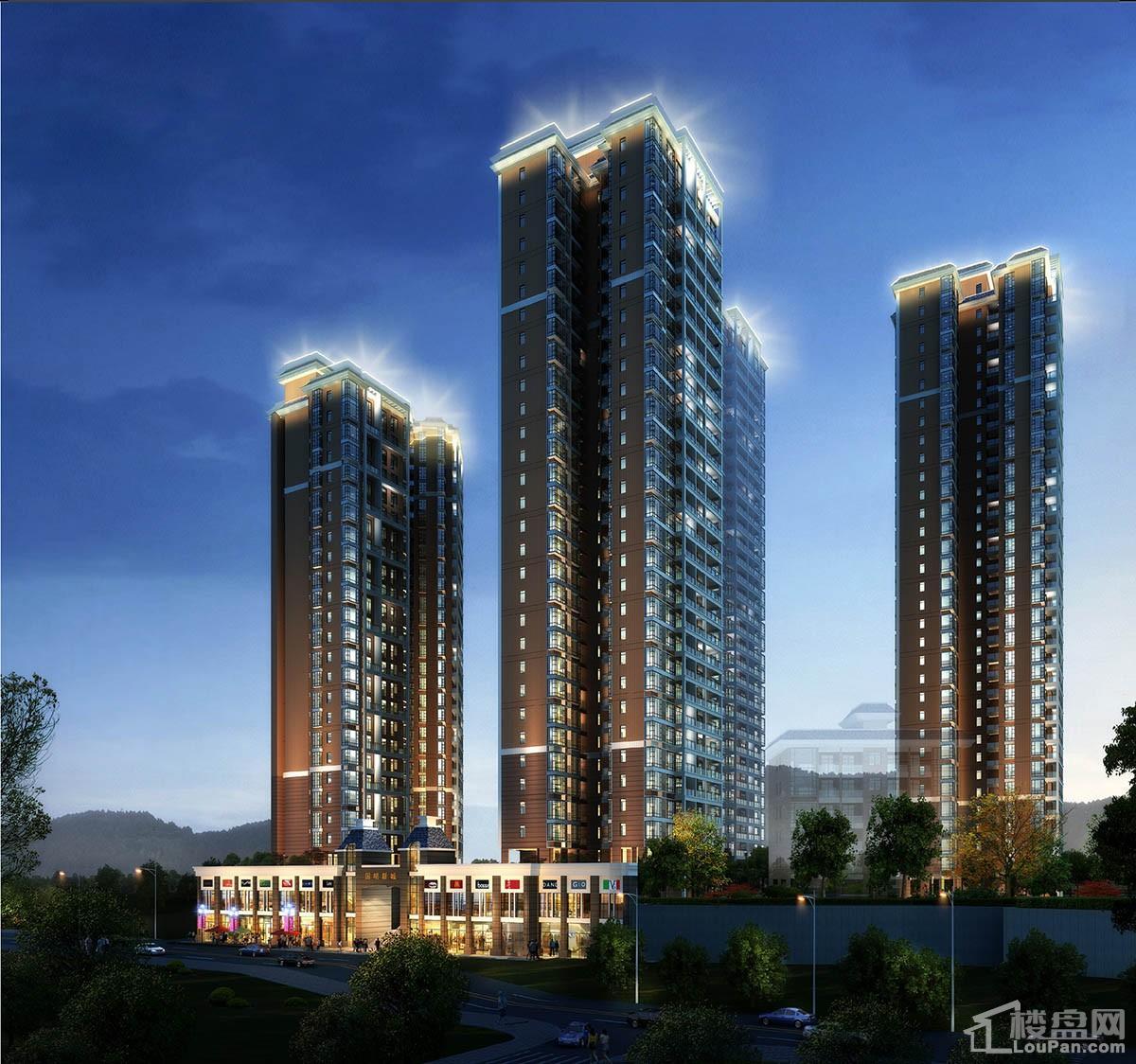 国明新城二期小区夜景图
