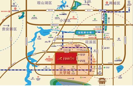 碧桂园学府1号位置图
