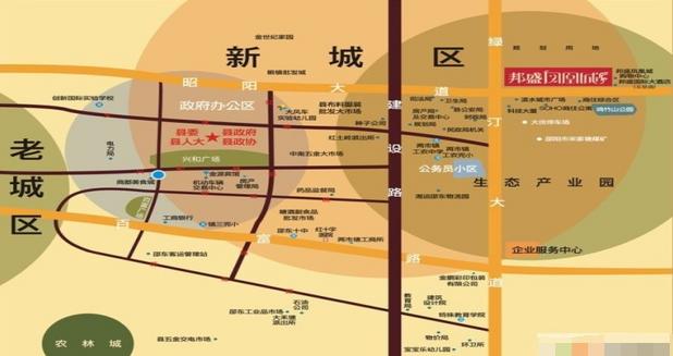 邦盛凤凰城位置图