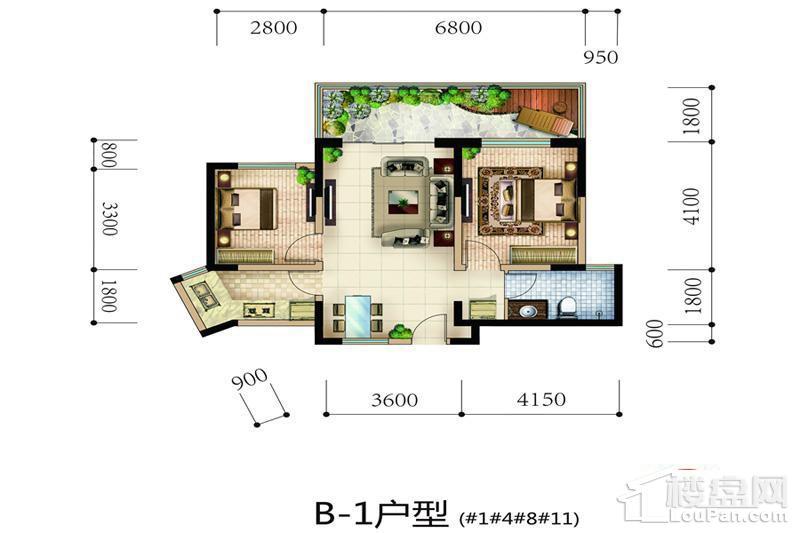 天地·凤凰城B-1户型