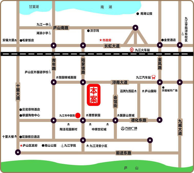 丽景家园商铺位置图
